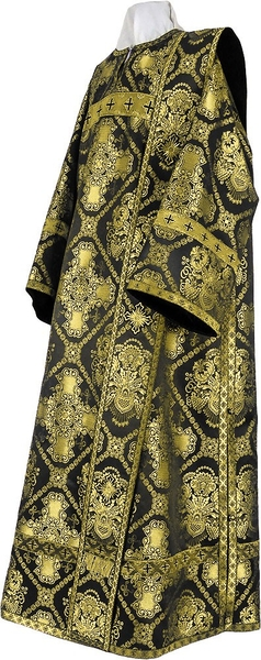 Deacon vestments - rayon brocade S4 (black-gold)