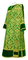 Deacon vestments - Bouquet rayon brocade S4 (green-gold) with velvet inserts, Standard design