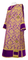 Deacon vestments - Bouquet rayon brocade S4 (violet-gold) with velvet inserts, Standard design