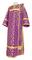 Deacon vestments - Cappadocia rayon brocade S4 (violet-gold), Economy design