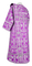 Deacon vestments - Peacocks rayon brocade S4 (violet-silver) with velvet inserts, back, Standard design