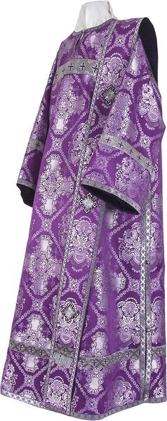Deacon vestments - rayon brocade S4 (violet-silver)