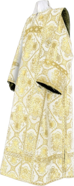 Deacon vestments - rayon brocade S4 (white-gold)