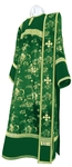 Deacon vestments - rayon Chinese brocade (green-gold)