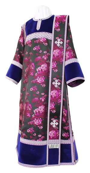 Deacon vestments - rayon Chinese brocade (violet-silver)