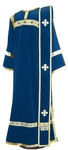 Deacon vestments - natural German velvet (blue-gold)