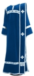 Deacon vestments - natural German velvet (blue-silver)