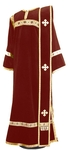 Deacon vestments - natural German velvet (claret-gold)