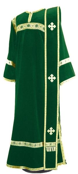Deacon vestments - natural German velvet (green-gold)
