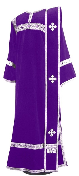 Deacon vestments - natural German velvet (violet-silver)