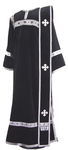 Deacon vestments - natural German velvet (black-silver)