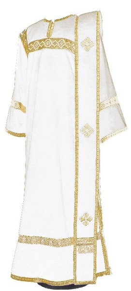 Deacon vestments - natural German velvet (white-gold)