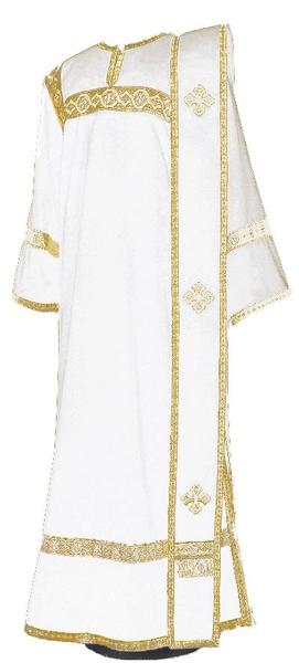 Deacon vestments - natural German velvet (white-gold)