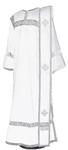 Deacon vestments - natural German velvet (white-silver)