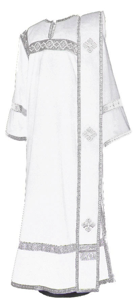 Deacon vestments - natural German velvet (white-silver)