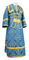 Subdeacon vestments - Alania metallic brocade B (blue-gold), Economy design