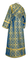 Subdeacon vestments - Zlatoust metallic brocade B (blue-gold) back, Standard design