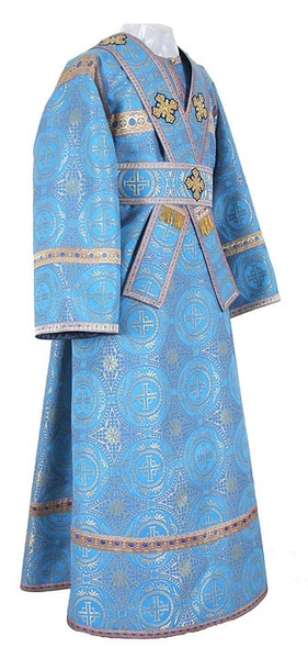 Subdeacon vestments - metallic brocade B (blue-gold)