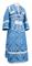 Subdeacon vestments - Alania metallic brocade B (blue-silver), Economy design