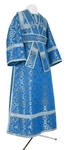 Subdeacon vestments - metallic brocade B (blue-silver)
