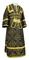 Subdeacon vestments - Alania metallic brocade B (black-gold), Economy design