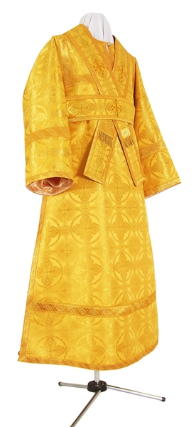 Subdeacon vestments - metallic brocade B (yellow-gold)