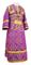 Subdeacon vestments - Alania metallic brocade B (violet-gold), Economy design