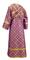 Subdeacon vestments - Ostrozh metallic brocade B (violet-gold) back, Standard design