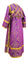 Subdeacon vestments - Alania metallic brocade B (violet-gold) back, Economy design