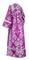Subdeacon vestments - Sloutsk metallic brocade B (violet-silver) back, Standard design
