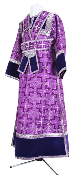 Subdeacon vestments - metallic brocade B (violet-silver)