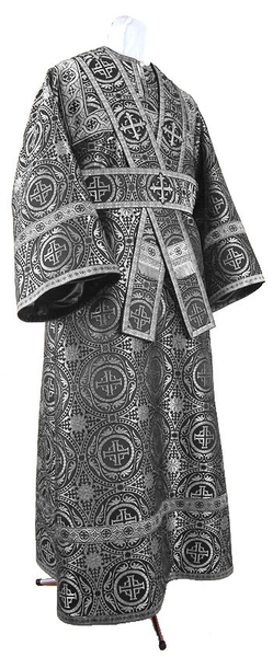 Subdeacon vestments - metallic brocade B (black-silver)