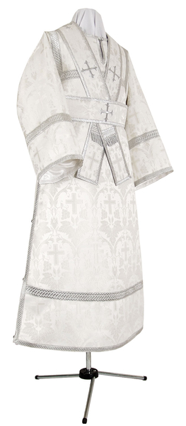 Subdeacon vestments - metallic brocade B (white-silver)