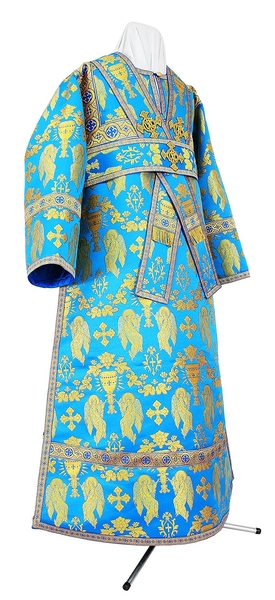 Subdeacon vestments - metallic brocade BG1 (blue-gold)