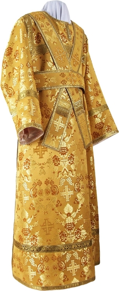 Subdeacon vestments - metallic brocade BG1 (yellow-claret-gold)