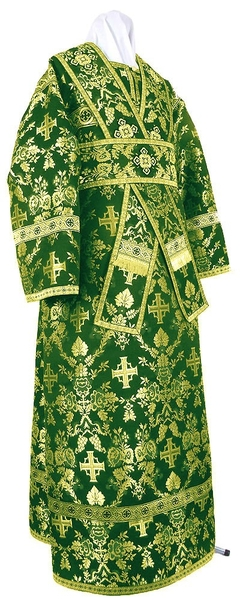 Subdeacon vestments - metallic brocade BG1 (green-gold)