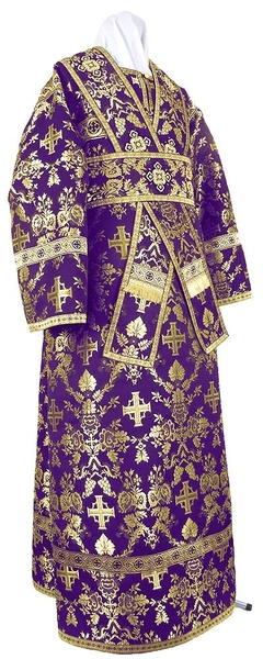 Subdeacon vestments - metallic brocade BG1 (violet-gold)