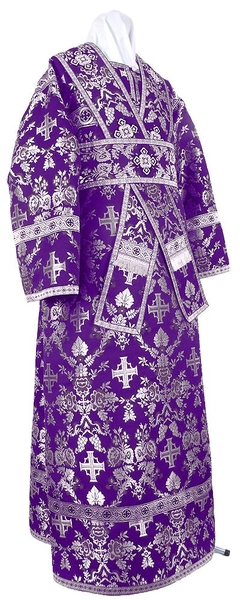 Subdeacon vestments - metallic brocade BG1 (violet-silver)