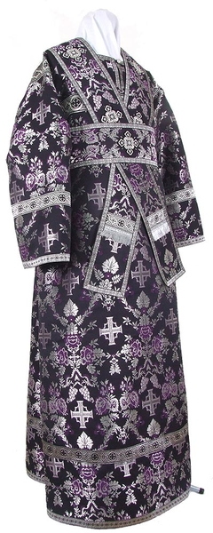 Subdeacon vestments - metallic brocade BG1 (black-silver)
