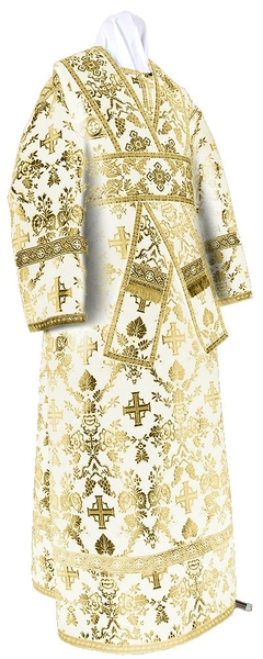 Subdeacon vestments - metallic brocade BG1 (white-gold)