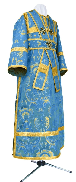 Subdeacon vestments - metallic brocade BG2 (blue-gold)