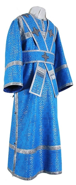 Subdeacon vestments - metallic brocade BG2 (blue-silver)