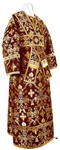 Subdeacon vestments - metallic brocade BG2 (claret-gold)