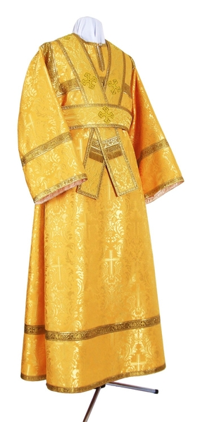 Subdeacon vestments - metallic brocade BG2 (yellow-claret-gold)