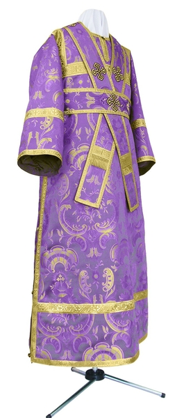 Subdeacon vestments - metallic brocade BG2 (violet-gold)
