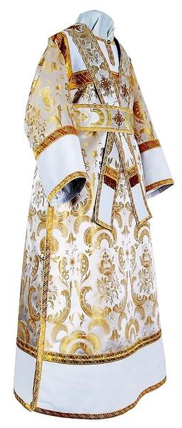Subdeacon vestments - metallic brocade BG2 (white-gold)