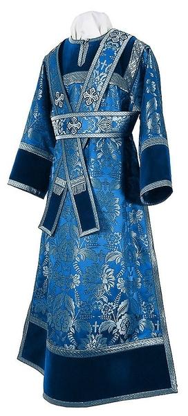 Subdeacon vestments - metallic brocade BG3 (blue-silver)