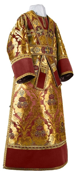 Subdeacon vestments - metallic brocade BG3 (claret-gold)
