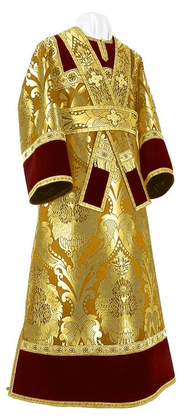 Subdeacon vestments - metallic brocade BG3 (yellow-gold)