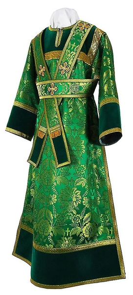 Subdeacon vestments - metallic brocade BG3 (green-gold)